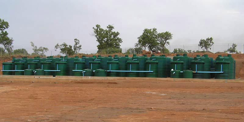 large sewage treatment plants